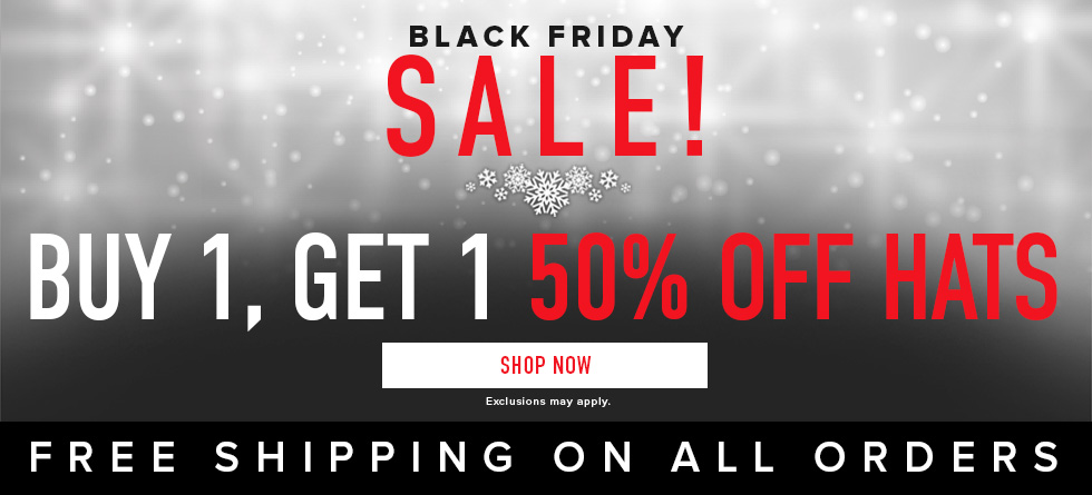 Black Friday Sale! Buy 1, Get 1 50%off Hats. Free shipping on all orders. Exclusions my apply. Click to shop now.
