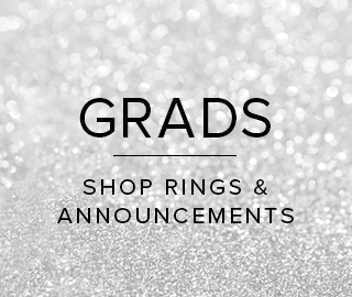 Sparkling background with text. Grads. Click to shop Rings & Announcements.